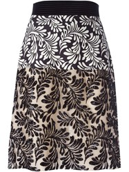 Emanuel Ungaro Foliage Print Sequin Skirt Multicolour