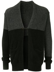 Attachment Colour Block Cardigan Black