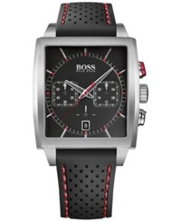 Hugo Boss Men's Chronograph Black Silicone Strap Watch 39X40mm 1513356