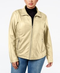 Kenneth Cole Plus Size Faux Leather Bomber Jacket Warm Combo