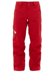 Helly Hansen Falcon Technical Shell Zip Trousers Red
