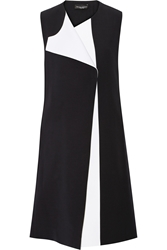 Narciso Rodriguez Color Block Wool And Silk Blend Vest
