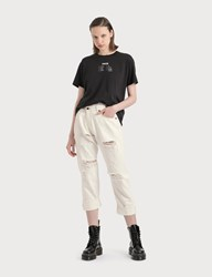 R 13 R13 Cross Over Jeans White