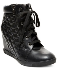 Madden Girl Madden Girl Baaxter Quilted High Top Wedge Sneakers Women's Shoes