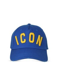 Dsquared2 Blue Icon Embroidered Baseball Cap
