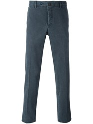 Pt01 Classic Chino Trousers Blue