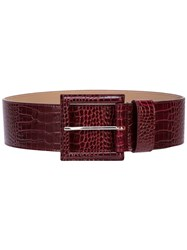 B Low The Belt Embossed Wide Red