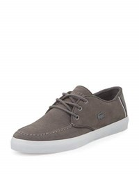 Lacoste Sevrin Suede Low Top Sneaker Gray