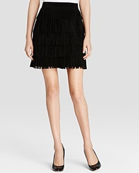 Kate Spade New York Suede Tiered Fringe Mini Skirt