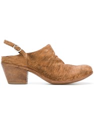 Officine Creative Chunky Heel Mules Brown