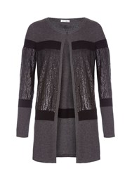 Relish Oversize Sequined Cardigan Grey