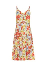 Emilia Wickstead Juliet Floral Print Dress White Multi