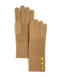 Michael Kors Waffle Stitch Gloves 100 Bloomingdale's Exclusive Camel