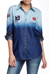 Affliction Speak Out Loud Chambray Shirt Blue