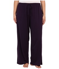 Jockey Cotton Essentials Plus Size Long Pajama Pant Eggplant Women's Pajama Purple
