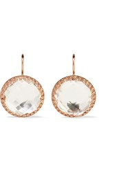 Larkspur And Hawk Olivia Button Rose Gold Dipped Topaz Earrings One Size Gbp