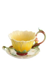 Franz Dahlia Tea Cup And Saucer