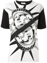 Fausto Puglisi Statue Of Liberty Printed T Shirt Black