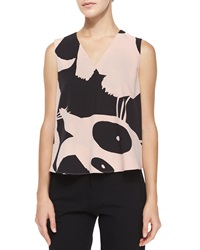Mcq By Alexander Mcqueen Sleeveless V Neck Printed Volume Top