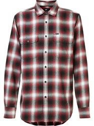 Obey Plaid Shirt Red