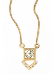 Shana Gulati Tulum Miranda Champagne Diamond And Sliced Raw Diamond Pendant Necklace Gold