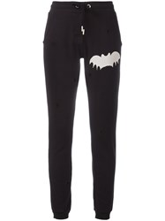Zoe Karssen Worn Out Effect Track Pants Black