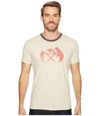 Prana Farm To Table Ringer Tee Stone Men's T Shirt White