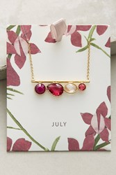Anthropologie Birthstone Necklace Red