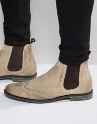 Base London Boxley Suede Chelsea Boots Tan