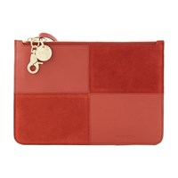 See By Chloe Emy Clutch Bag Faded Red