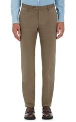 Incotex Men's Twill Marvis Trousers Brown