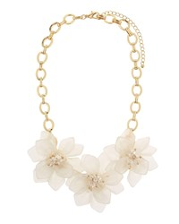 Fragments For Neiman Marcus Flower Statement Necklace Gold