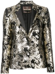 Roberto Cavalli Embroidered Blazer Women Cotton Acrylic Polyester Wool 42 Metallic