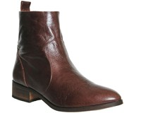 Office Ashleigh Flat Ankle Boots Brown