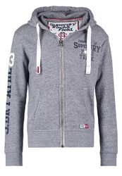 Superdry Tracksuit Top Pearl Blue Grindle Mottled Grey