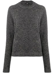 Aspesi Melange Crew Neck Sweater Green