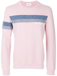 Dondup Denim Stripe Sweatshirt Cotton Pink Purple