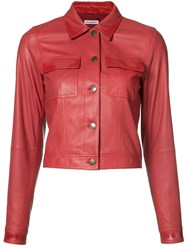 Tomas Maier Cropped Jacket Red