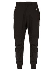 Balmain Combat Cotton Twill Trousers Black