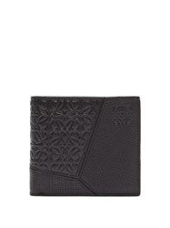 Loewe Puzzle Grained Leather Bi Fold Wallet Black