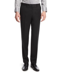 Bar Iii Black Solid Slim Fit Pants