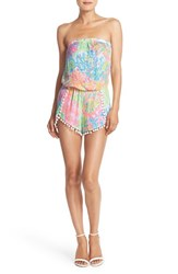Women's Lilly Pulitzer 'Daisy' Strapless Print Romper