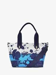 Ted Baker Alexerrs Small Tote Bag Dark Blue White