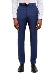 Jaeger Textured Weave Slim Fit Suit Trousers Blue