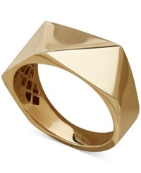 Macy's Polished Pyramid Cut Statement Ring In 14K Gold Yellow Gold