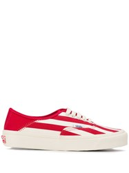 Vans Striped Sneakers Red