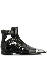 Alexander Mcqueen Cage Ankle Boots Black