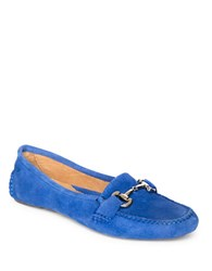 Patricia Green Carrie Suede Driver Moccasins Cobalt Blue