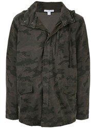 James Perse Camouflage Print Jacket 60