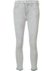 Citizens Of Humanity Super Skinny Cropped Jeans Grey